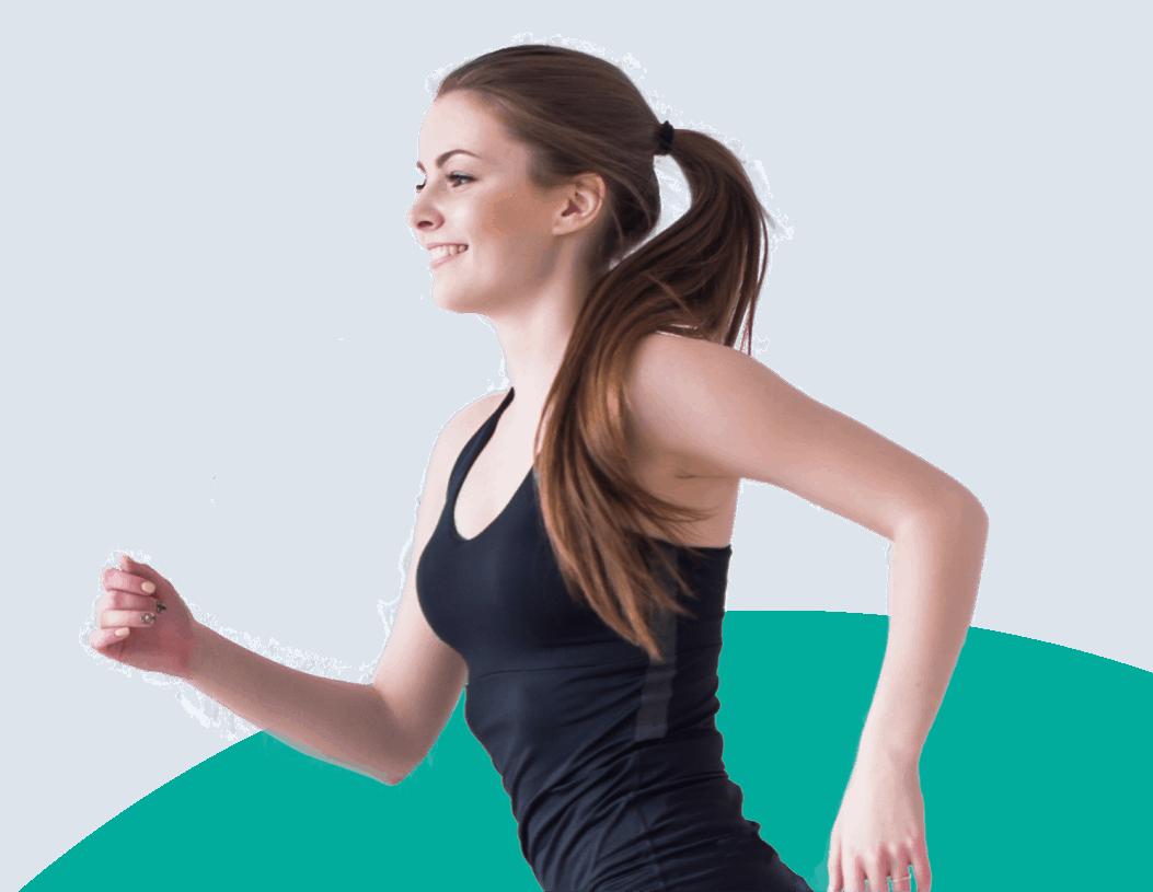 female running smile